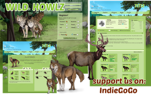 Support Wild Howlz (wolf game) At Indiegogo by Aminirus