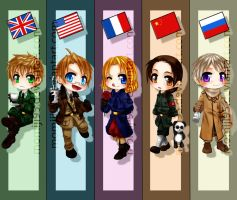 APH - Allies bookmarks by Momiji95