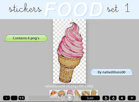 + FOOD |STICKERS SET 1| by natieditions00