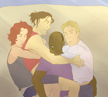 Winter Soldier cuddles. by jack-o-lantern12