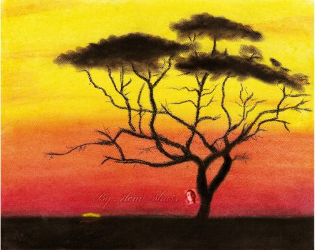 sun set by pastill color by HasanMHM