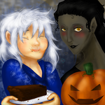 Jaquelyn and Pitchell's Halloween by HezuNeutral