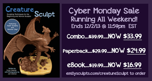 Creature Sculpt Cyber Monday Sale, All Weekend! by emilySculpts