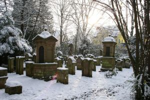 Winter cemetery stock 04 by Malleni-Stock