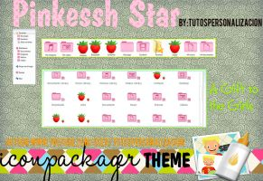 Theme IconPackager Pinksessh Star by TutosPersonalizacion