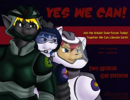 'Yes We Can' ASU War Poster by Digoraccoon