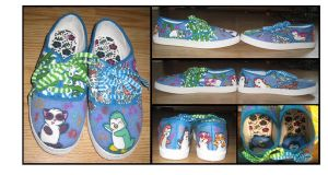 Dancing Panda,Penguin Shoes by killerblonde08