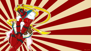Sailor Deadpool by Menaria