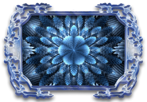 Ice Flower in Glass Frame by wolfepaw