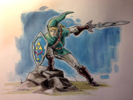 Link - Legend of Zelda by thejohncarmine