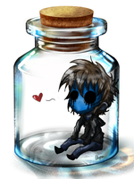 Eyeless Jack in a Bottle by WarriorWildfur