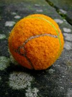 Needle felted morphball by LittleWikis