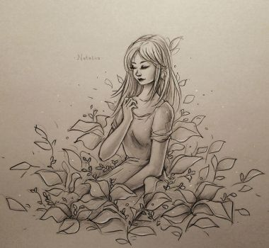 Alone with nature (traditional) by natalico