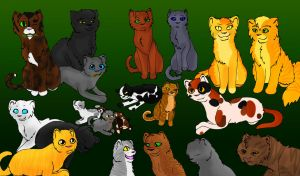 Thunderclan random cats by TheWrathofEnvy