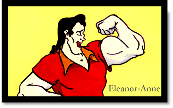 Gaston Animation Cel by Eleanor-Anne6