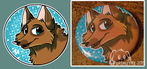 Custom Button- DreamselfwolfKP by xAshleyMx