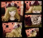 Flower crown and greeny wigy by vlower