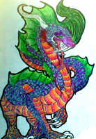 chinese sea dragon coloured by Wolf-Angel-whitewing