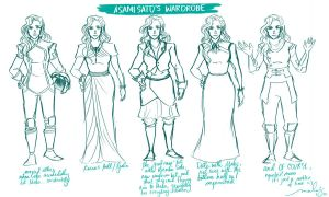 Asami Sato's Wardrobe by drinked-ale
