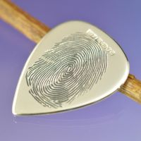 Guitar Plectrum Fingerprint by chrisparry