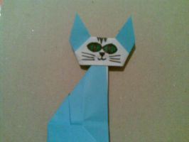 Origami: Cat by saria-the-elf