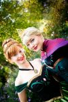 Elsa and Anna of Arendelle by Sasouri