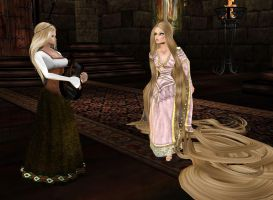 Repunzel and her chanteuse by Mary-Margret