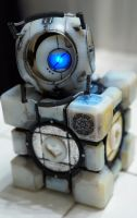 Portal Buddies (Wheatley and Companion Cube) by ammnra