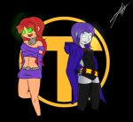 Starfire and Raven by honas007