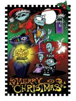 Nightmare Before Chrismas Card by Carnival-Werewolf