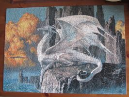 Another white dragon puzzle by Santian69