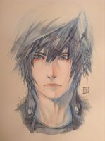 Noctis Ouji - original watercolor give away by kaoleanite