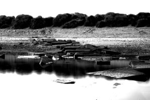 Rockpool Monochrome. by johnwaymont