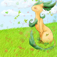 a Leafeon in the wind by Leyfiction