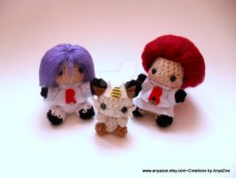 Team Rocket Amigurumi by AnyaZoe