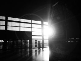 Sunrise in an Empty Terminal by narchitect