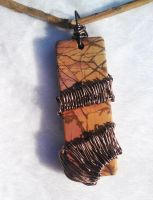 Woven picasso Jasper in antique bronze by Nimily
