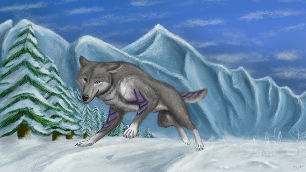 Winter Runner by gryphon1