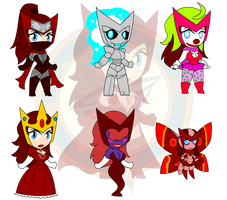 Assort Chibis   Au by Dragon-FangX by singory