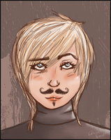 Look back. I have a moustache. by Blue-Titan