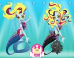 Monster High Great Scarrier Reef Lagoona Blue by heglys