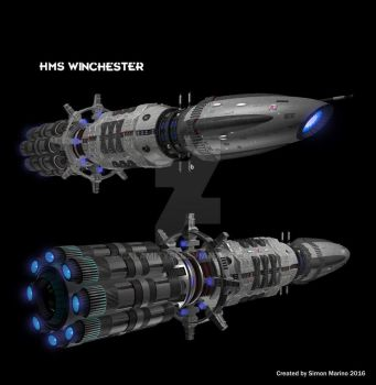 HMS Winchester by calamitySi
