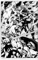 Avengers TI 32 page inks by TonyKordos