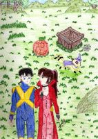Sango and Miroku Halloween by IsisConstantine