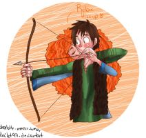 Hiccup and merida by kailet97