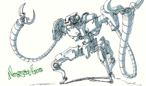 Ugly robot sketch by DanNortonArt