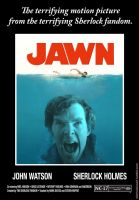 JAWN Movie Poster (spoof of JAWS) by SherlocksScarf
