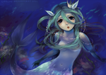 in the deep blue, the words of the blind mermaid by chocuu