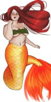 Coloured Curvy Mermaid WIP by BRAY-Inque