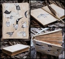 Insane birds handmade notebook by Little-Blind-Chicken